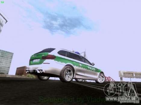 BMW M5 Touring Polizei pour GTA San Andreas vue arrière