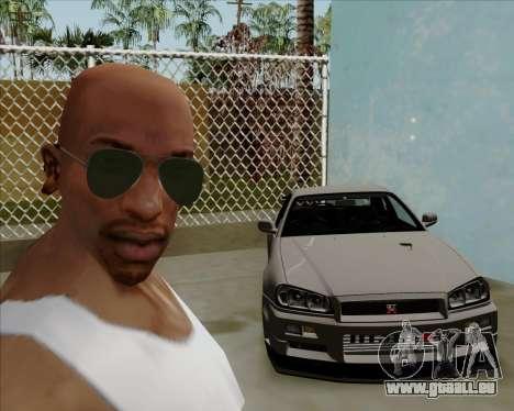 Lunettes de soleil verts lunette pour GTA San Andreas quatrième écran