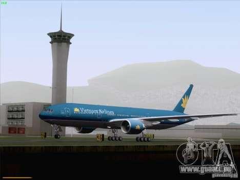 Boeing 777-2Q8ER Vietnam Airlines pour GTA San Andreas vue de dessus
