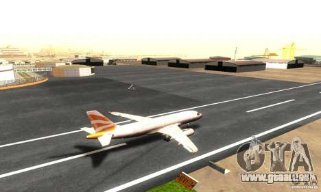 Airbus A319 British Airways Olympic Dove für GTA San Andreas zurück linke Ansicht