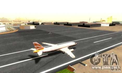 Airbus A319 British Airways Olympic Dove pour GTA San Andreas sur la vue arrière gauche