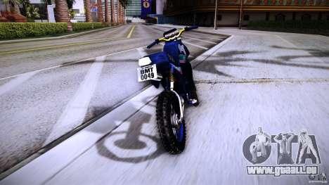 Yamaha DT 180 pour GTA San Andreas vue arrière