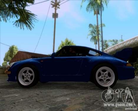 Porsche 911 GT2 RWB Dubai SIG EDTN 1995 pour GTA San Andreas vue intérieure