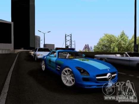 Mercedes-Benz SLS AMG Blue SCPD pour GTA San Andreas vue de droite