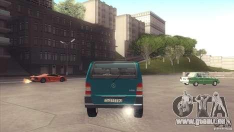 Mercedes-Benz Vito 112 für GTA San Andreas rechten Ansicht