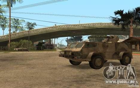 GAS-3937 Vodnik für GTA San Andreas linke Ansicht