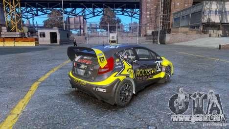 Ford Fiesta Rallycross pour GTA 4 Vue arrière de la gauche