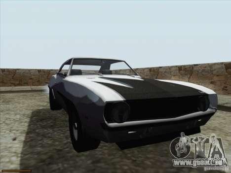 Chevrolet Camaro 1969 für GTA San Andreas Unteransicht