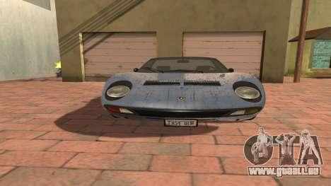 Lamborghini Miura P400 SV 1971 V1.0 pour GTA San Andreas vue de côté