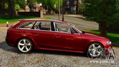Audi RS4 Avant 2013 pour GTA 4 est une gauche