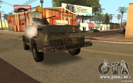 GAS-3937 Vodnik für GTA San Andreas Rückansicht