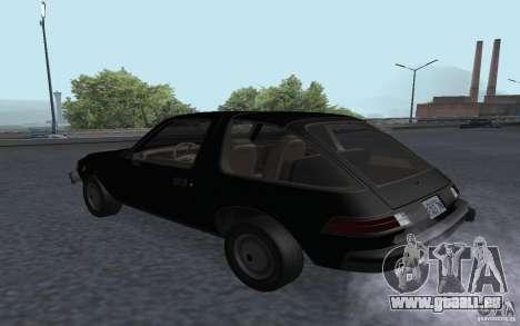 AMC Pacer pour GTA San Andreas laissé vue