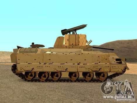 M2A3 Bradley für GTA San Andreas linke Ansicht
