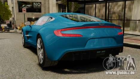 Aston Martin One-77 für GTA 4 hinten links Ansicht
