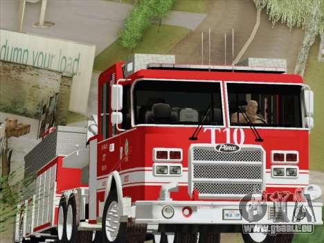 Pierce Arrow XT LAFD Tiller Ladder Truck 10 pour GTA San Andreas laissé vue