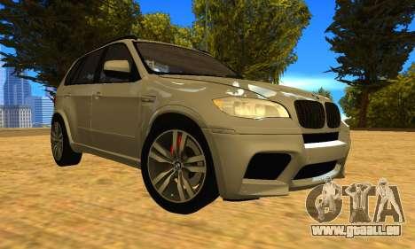 BMW X5M 2013 v2.0 pour GTA San Andreas vue arrière
