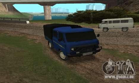 UAZ 39094 Fermer pour GTA San Andreas sur la vue arrière gauche