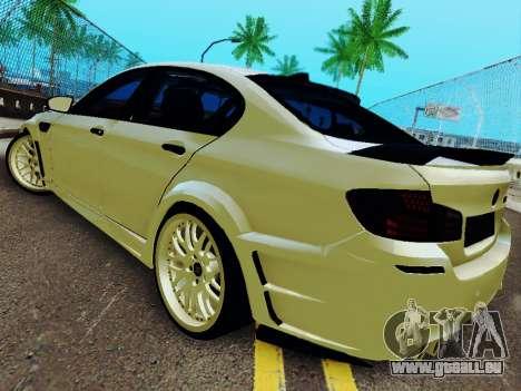 BMW M5 F10 HAMANN für GTA San Andreas zurück linke Ansicht