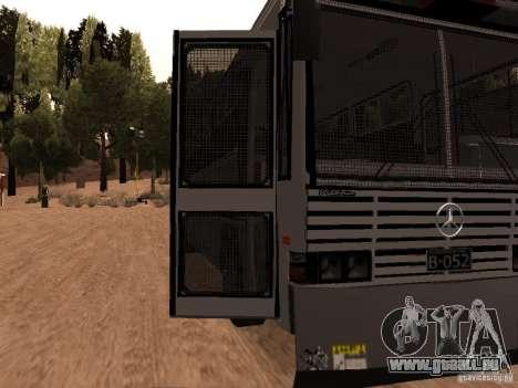 Mercedes Benz SWAT Bus für GTA San Andreas Rückansicht
