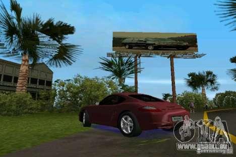 Porsche Cayman pour une vue GTA Vice City de la gauche