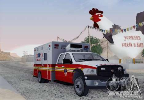 Dodge Ram Ambulance für GTA San Andreas linke Ansicht