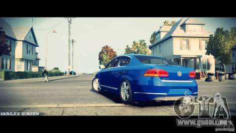 VW Passat B7 TDI Blue Motion pour GTA 4 Vue arrière