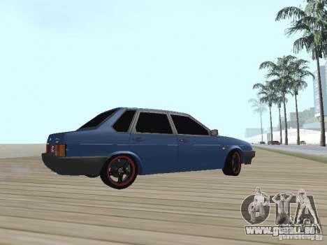 VAZ 21099 v2 pour GTA San Andreas sur la vue arrière gauche