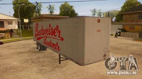 Ganzmetall-trailer für GTA San Andreas rechten Ansicht