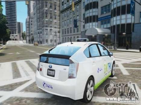 Toyota Prius EKO TAXI (Hrvatski taxi) pour GTA 4 Vue arrière de la gauche