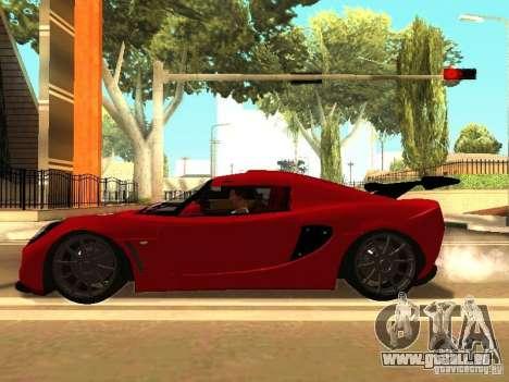 Lotus Exige 240R für GTA San Andreas Rückansicht