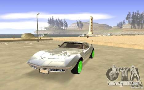 Chevrolet Corvette Stingray Monster Energy pour GTA San Andreas laissé vue