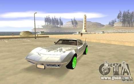 Chevrolet Corvette Stingray Monster Energy pour GTA San Andreas laissé vue