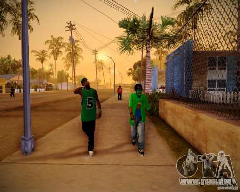 Skins pack gang Grove für GTA San Andreas fünften Screenshot