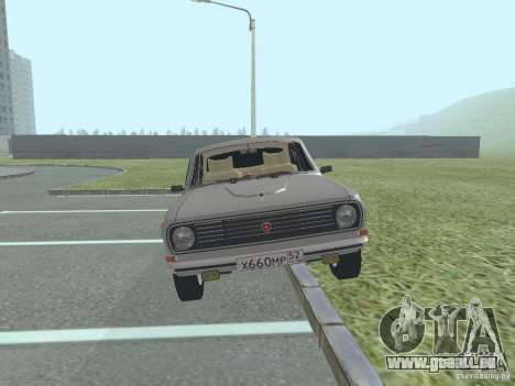 Volga GAZ 24-10 für GTA San Andreas zurück linke Ansicht