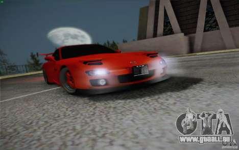 Mazda RX7 Hellalush V.2 pour GTA San Andreas vue de côté