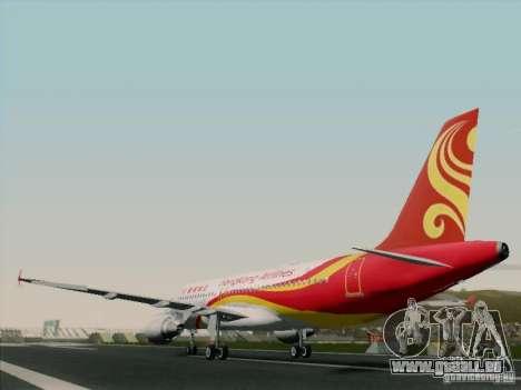 Airbus A320-214 Hong Kong Airlines für GTA San Andreas Rückansicht