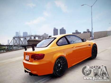 BMW M3 GT-S pour GTA 4 Vue arrière de la gauche