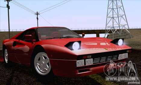 Ferrari 288 GTO 1984 für GTA San Andreas zurück linke Ansicht
