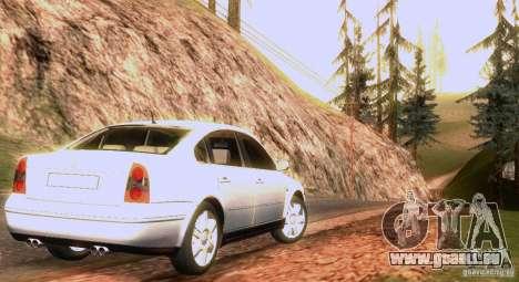Volkswagen Passat B5 für GTA San Andreas Motor
