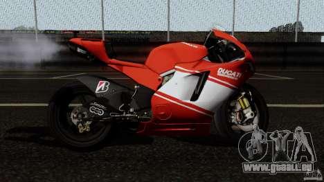 Ducati Desmosedici RR für GTA San Andreas linke Ansicht