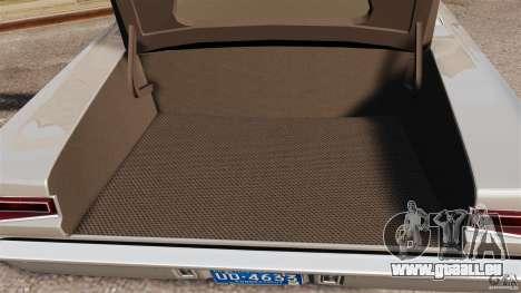 Dodge Coronet 1967 pour GTA 4 vue de dessus