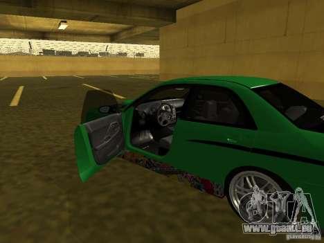Subaru Impreza WRX pour GTA San Andreas vue de dessus