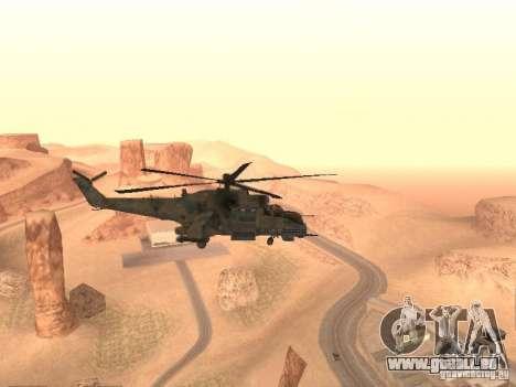 Mi-24p für GTA San Andreas rechten Ansicht