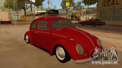 VW Beetle 1966 für GTA San Andreas Rückansicht