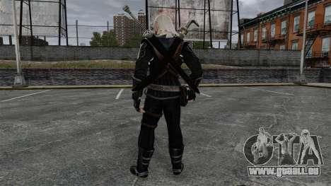 Geralt de Rivia v8 pour GTA 4 troisième écran