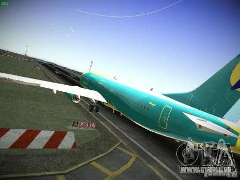 Boeing 737-84R AeroSvit Ukrainian Airlines für GTA San Andreas zurück linke Ansicht