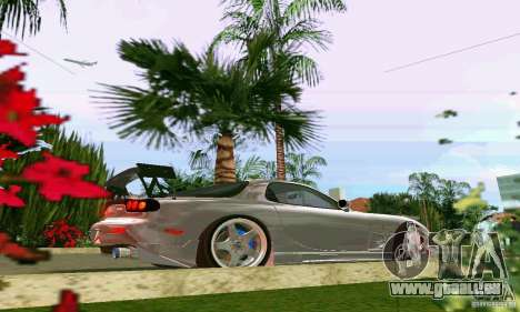 Mazda RX7 tuning pour GTA Vice City vue arrière