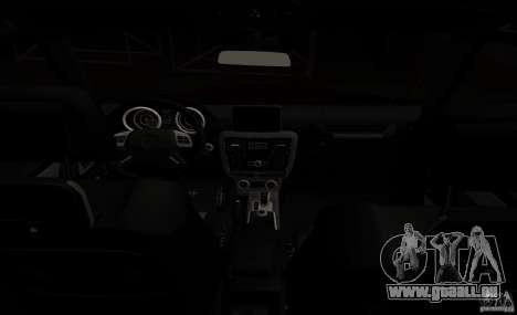 Mercedes Benz G65 AMG pour GTA San Andreas vue intérieure