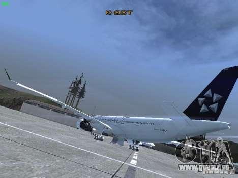 Airbus A330-300 Air Canada pour GTA San Andreas sur la vue arrière gauche