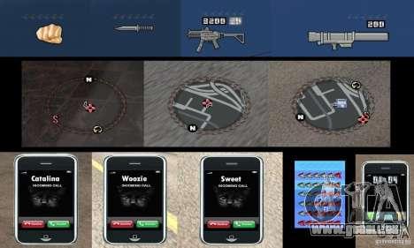 Ultra-modernes HUD für GTA San Andreas